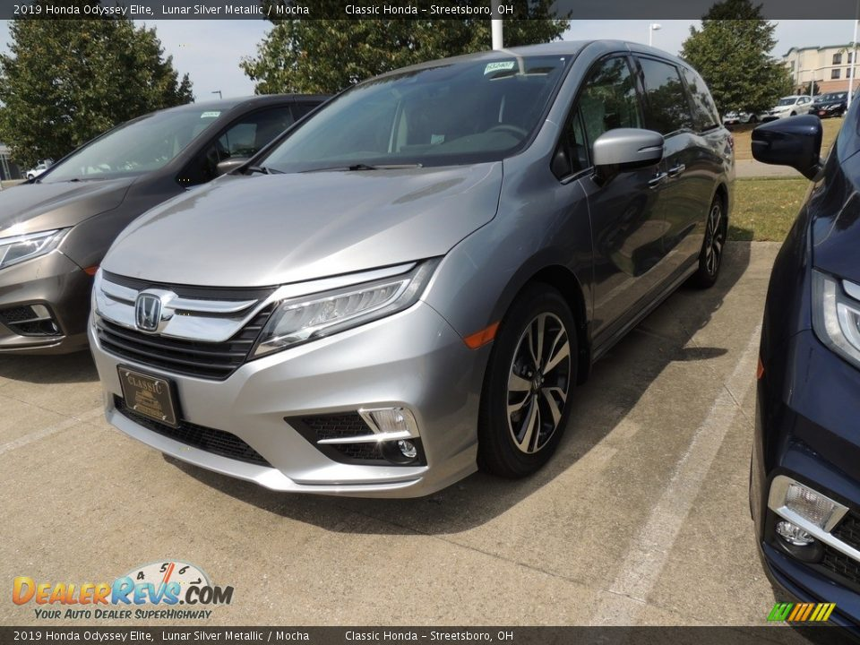 2019 Honda Odyssey Elite Lunar Silver Metallic / Mocha Photo #1