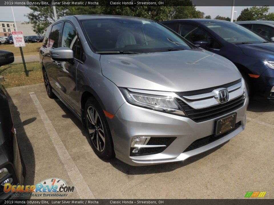 2019 Honda Odyssey Elite Lunar Silver Metallic / Mocha Photo #3