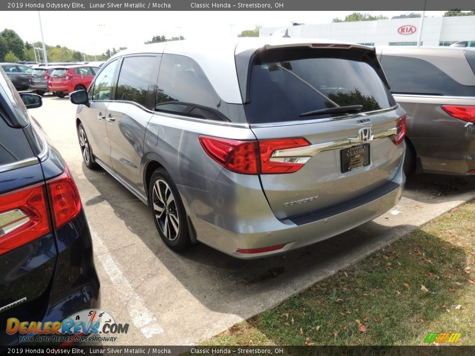 2019 Honda Odyssey Elite Lunar Silver Metallic / Mocha Photo #6