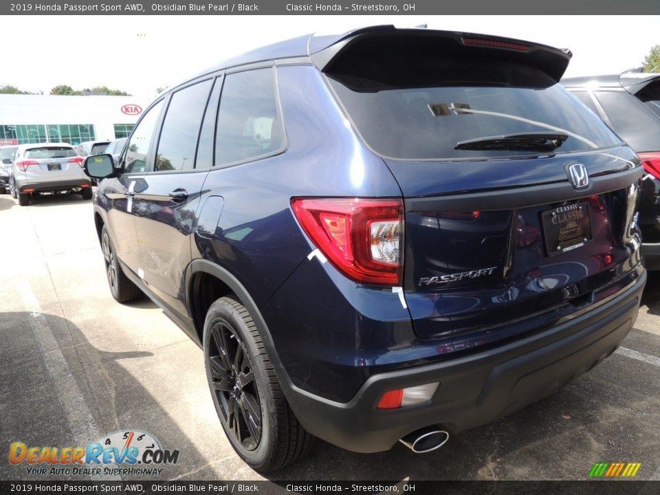 2019 Honda Passport Sport AWD Obsidian Blue Pearl / Black Photo #5