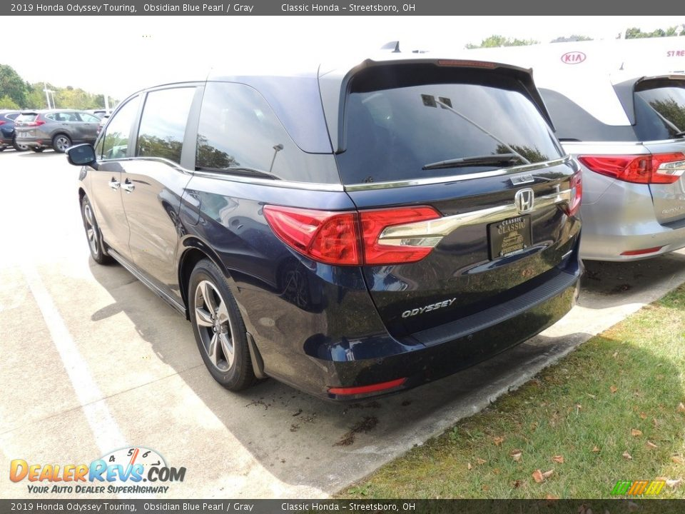 2019 Honda Odyssey Touring Obsidian Blue Pearl / Gray Photo #6