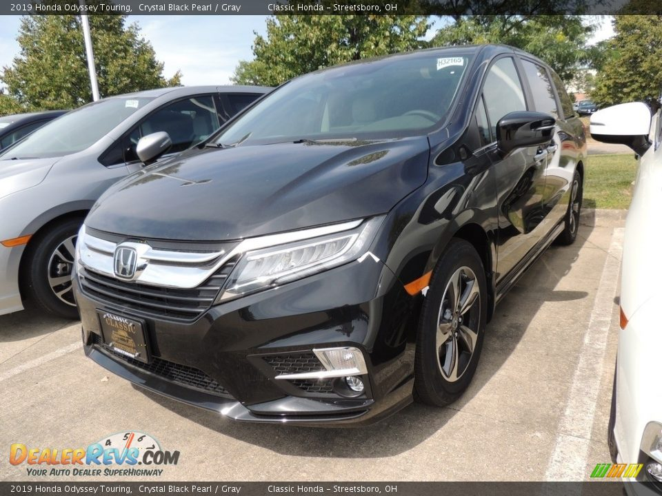 2019 Honda Odyssey Touring Crystal Black Pearl / Gray Photo #1