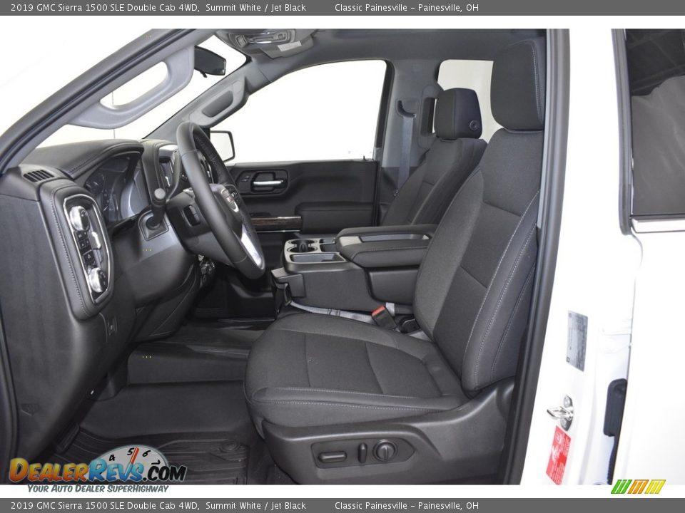 2019 GMC Sierra 1500 SLE Double Cab 4WD Summit White / Jet Black Photo #6