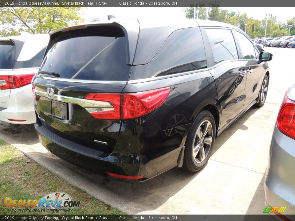 2019 Honda Odyssey Touring Crystal Black Pearl / Gray Photo #4