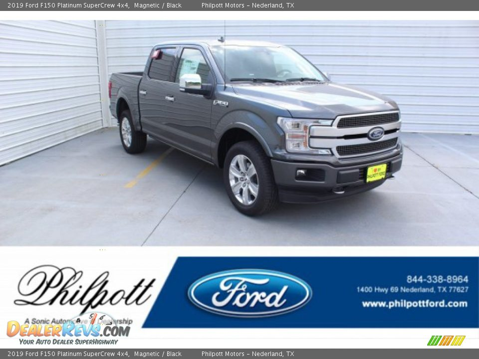 2019 Ford F150 Platinum SuperCrew 4x4 Magnetic / Black Photo #1