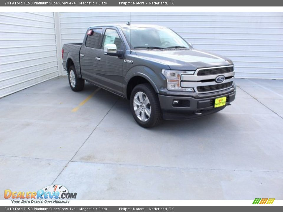 2019 Ford F150 Platinum SuperCrew 4x4 Magnetic / Black Photo #2