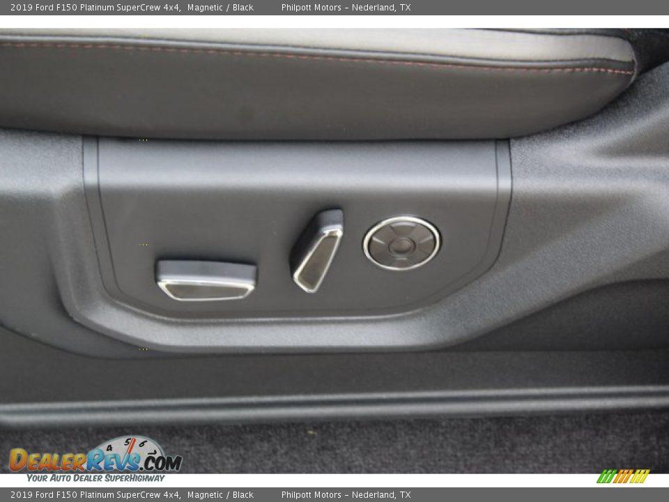 2019 Ford F150 Platinum SuperCrew 4x4 Magnetic / Black Photo #13