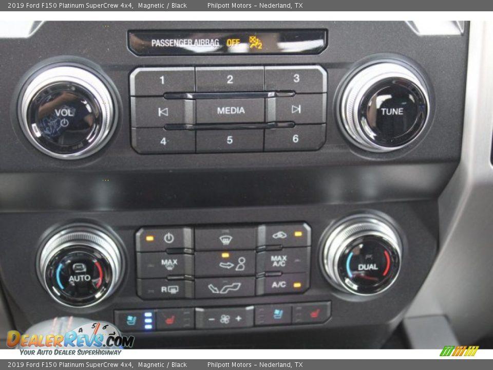 Controls of 2019 Ford F150 Platinum SuperCrew 4x4 Photo #19