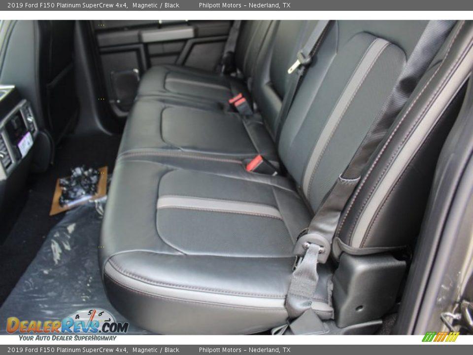 Rear Seat of 2019 Ford F150 Platinum SuperCrew 4x4 Photo #23