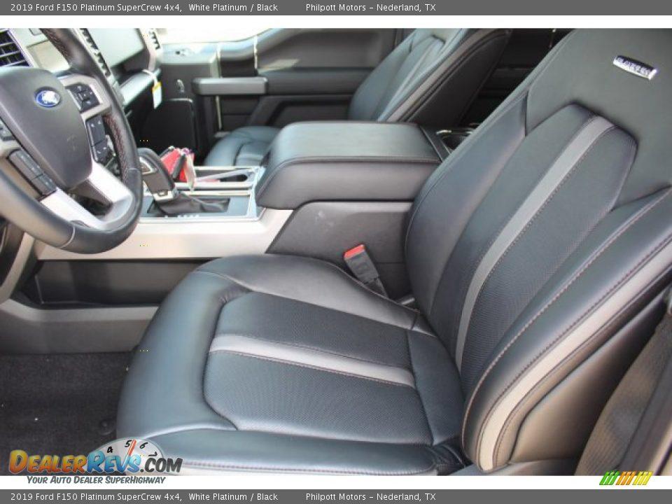 2019 Ford F150 Platinum SuperCrew 4x4 White Platinum / Black Photo #10
