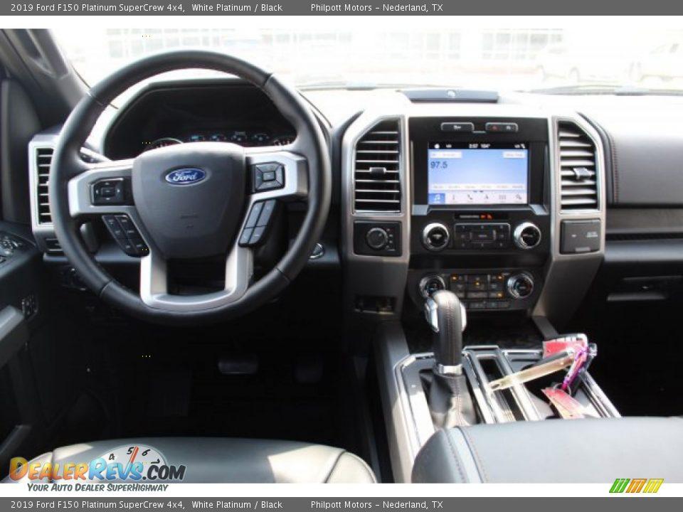2019 Ford F150 Platinum SuperCrew 4x4 White Platinum / Black Photo #22