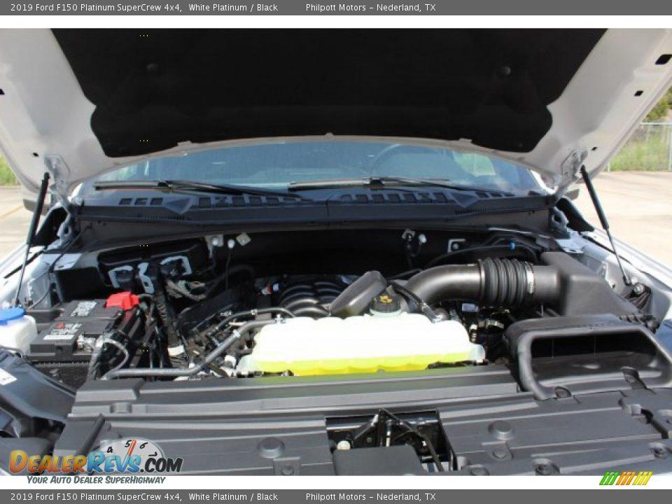 2019 Ford F150 Platinum SuperCrew 4x4 White Platinum / Black Photo #25