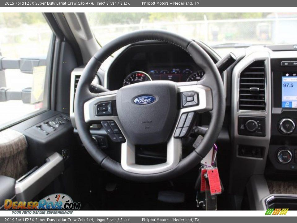 2019 Ford F250 Super Duty Lariat Crew Cab 4x4 Ingot Silver / Black Photo #23