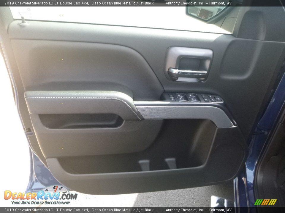 2019 Chevrolet Silverado LD LT Double Cab 4x4 Deep Ocean Blue Metallic / Jet Black Photo #15