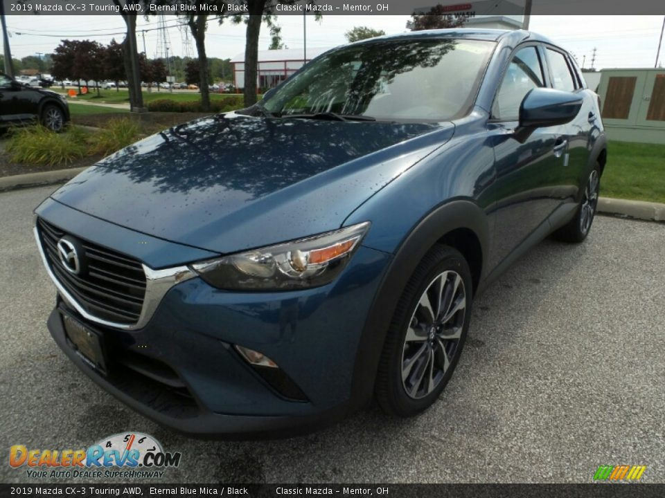 2019 Mazda CX-3 Touring AWD Eternal Blue Mica / Black Photo #3