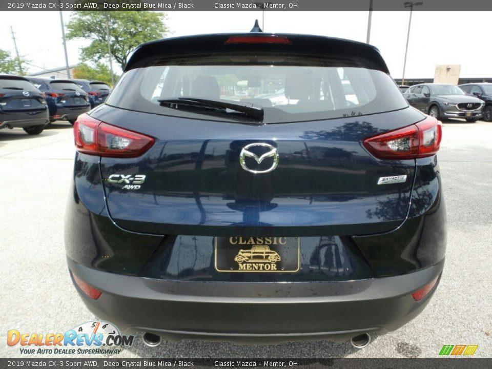 2019 Mazda CX-3 Sport AWD Deep Crystal Blue Mica / Black Photo #6