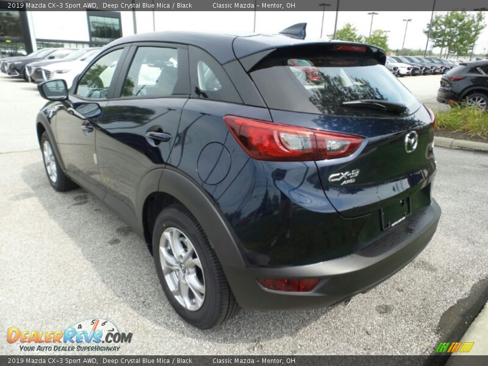 2019 Mazda CX-3 Sport AWD Deep Crystal Blue Mica / Black Photo #5