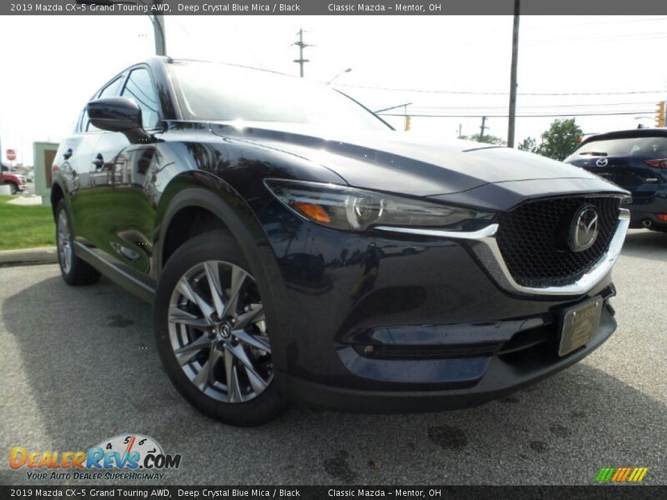 2019 Mazda CX-5 Grand Touring AWD Deep Crystal Blue Mica / Black Photo #1