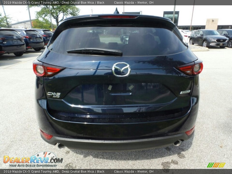 2019 Mazda CX-5 Grand Touring AWD Deep Crystal Blue Mica / Black Photo #6