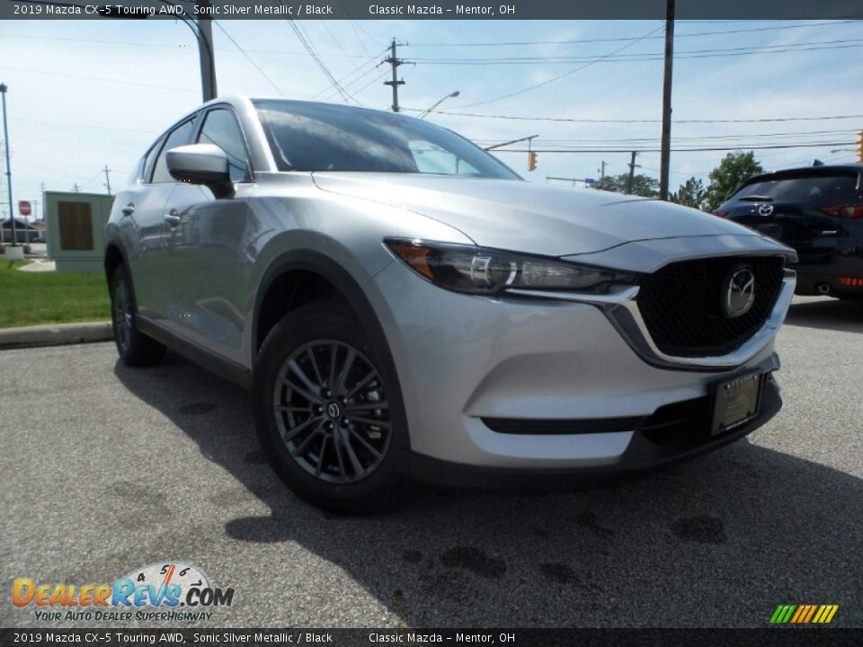 2019 Mazda CX-5 Touring AWD Sonic Silver Metallic / Black Photo #1