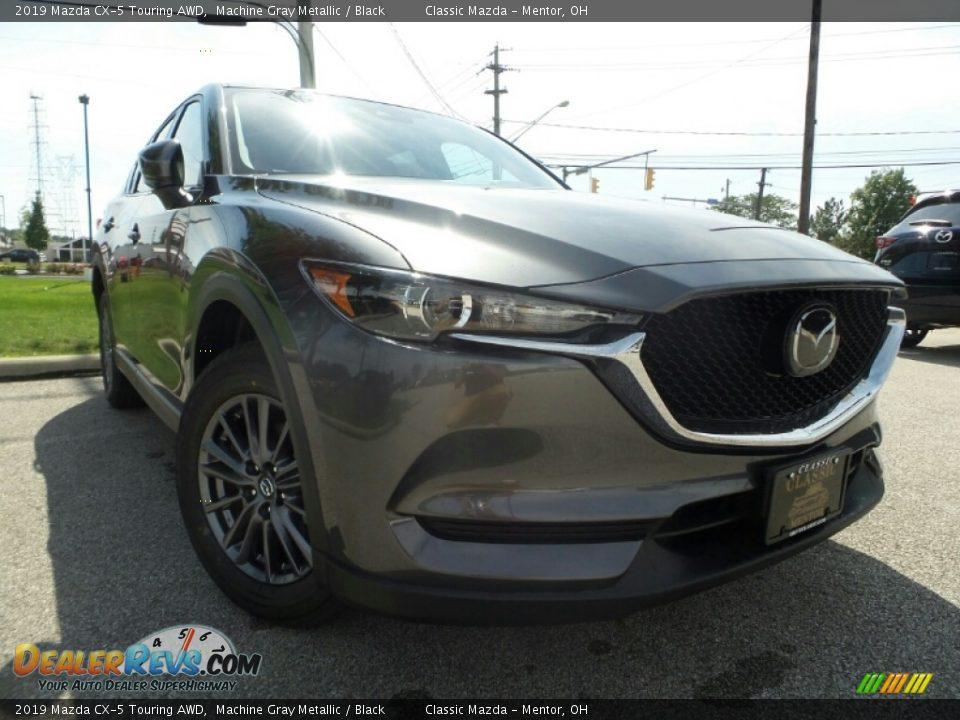 2019 Mazda CX-5 Touring AWD Machine Gray Metallic / Black Photo #1