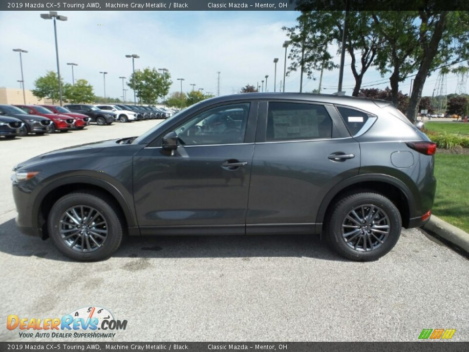 2019 Mazda CX-5 Touring AWD Machine Gray Metallic / Black Photo #4