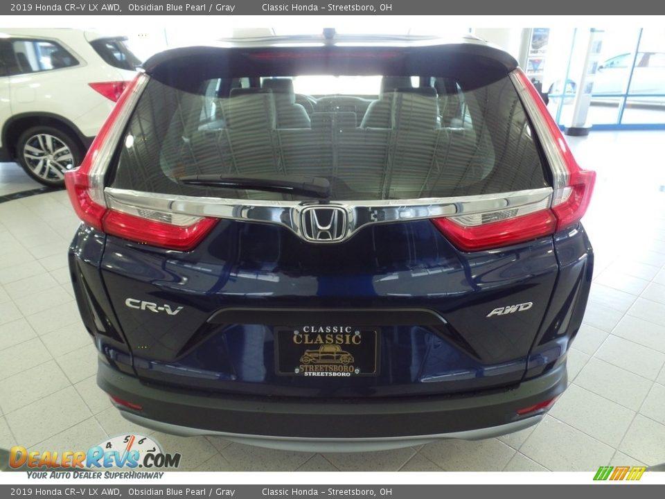 2019 Honda CR-V LX AWD Obsidian Blue Pearl / Gray Photo #4