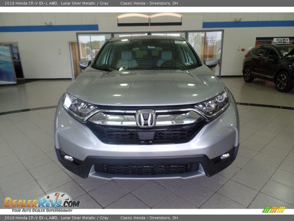 2019 Honda CR-V EX-L AWD Lunar Silver Metallic / Gray Photo #3