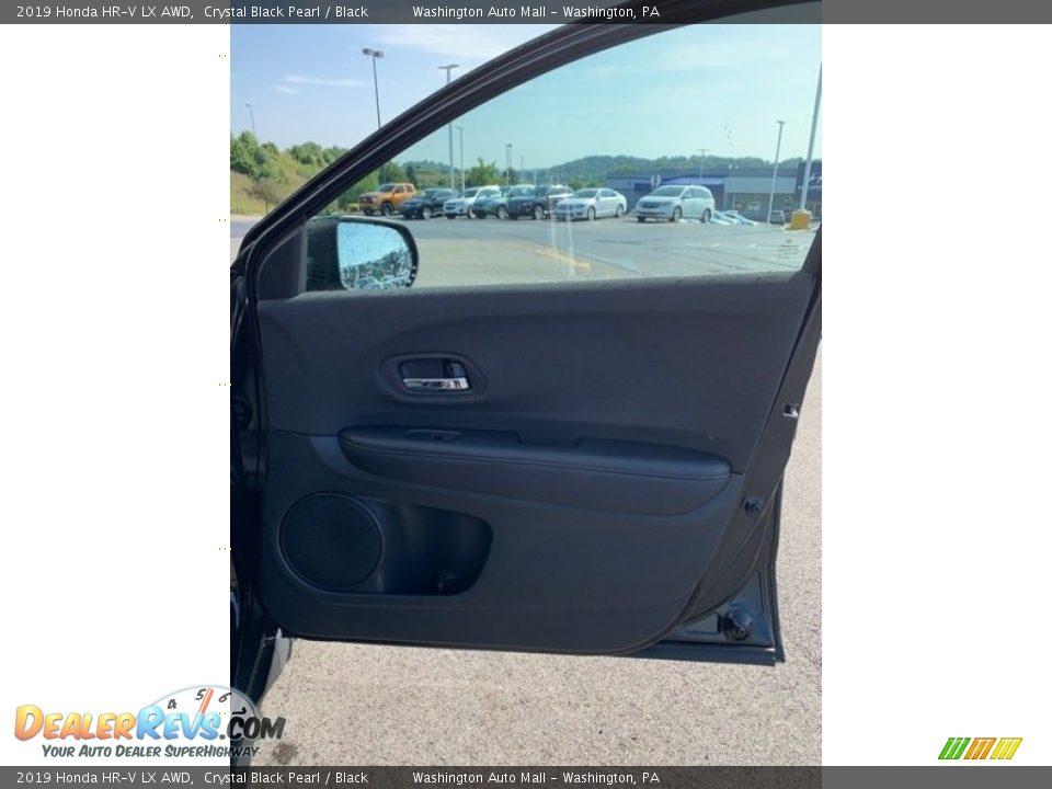 2019 Honda HR-V LX AWD Crystal Black Pearl / Black Photo #26