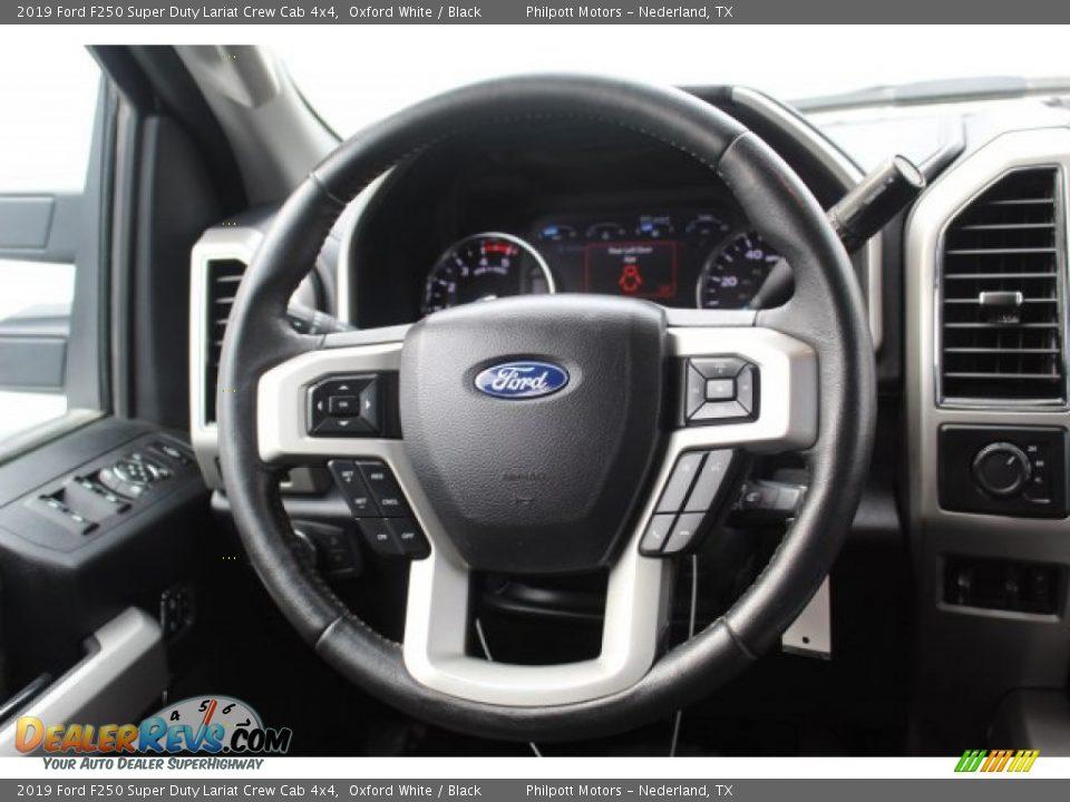 2019 Ford F250 Super Duty Lariat Crew Cab 4x4 Oxford White / Black Photo #23
