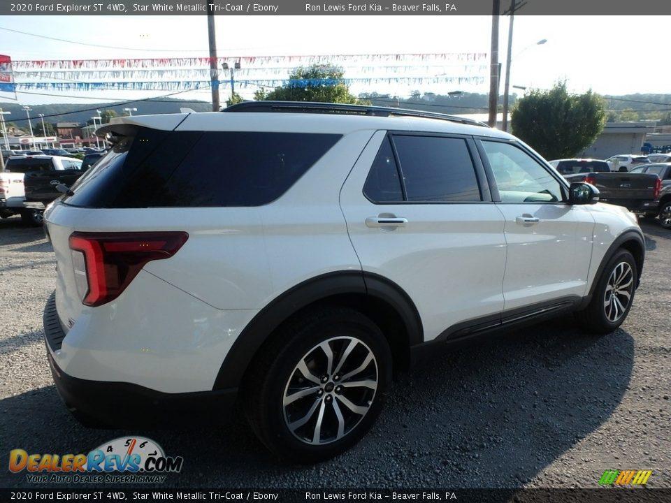 2020 Ford Explorer ST 4WD Star White Metallic Tri-Coat / Ebony Photo #2