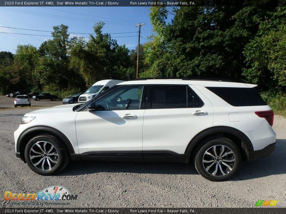 2020 Ford Explorer ST 4WD Star White Metallic Tri-Coat / Ebony Photo #6