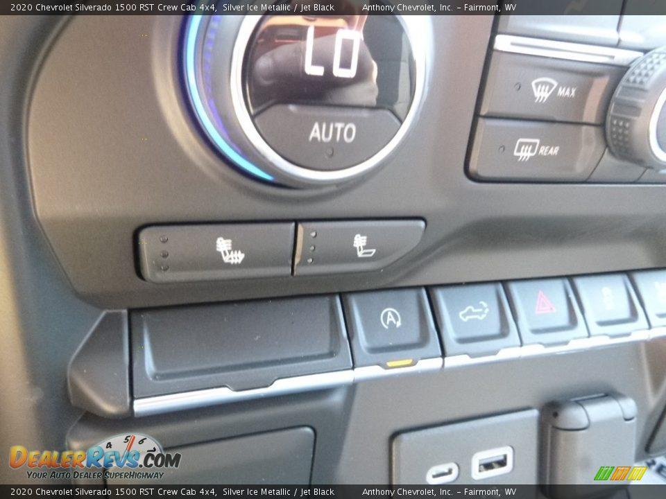 2020 Chevrolet Silverado 1500 RST Crew Cab 4x4 Silver Ice Metallic / Jet Black Photo #19