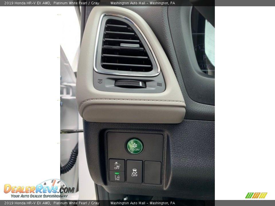 2019 Honda HR-V EX AWD Platinum White Pearl / Gray Photo #12