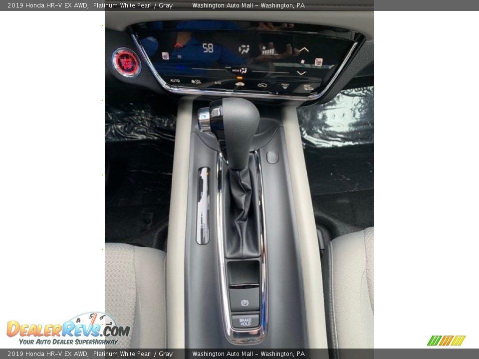 2019 Honda HR-V EX AWD Platinum White Pearl / Gray Photo #34