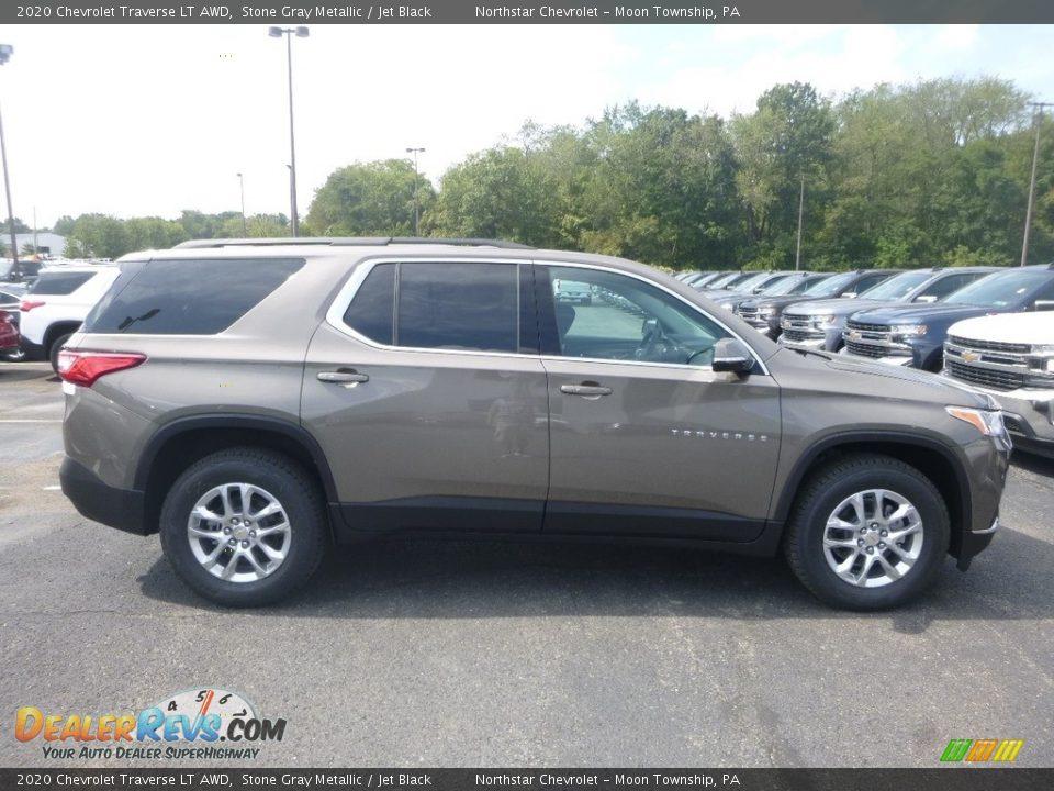 2020 Chevrolet Traverse LT AWD Stone Gray Metallic / Jet Black Photo #6