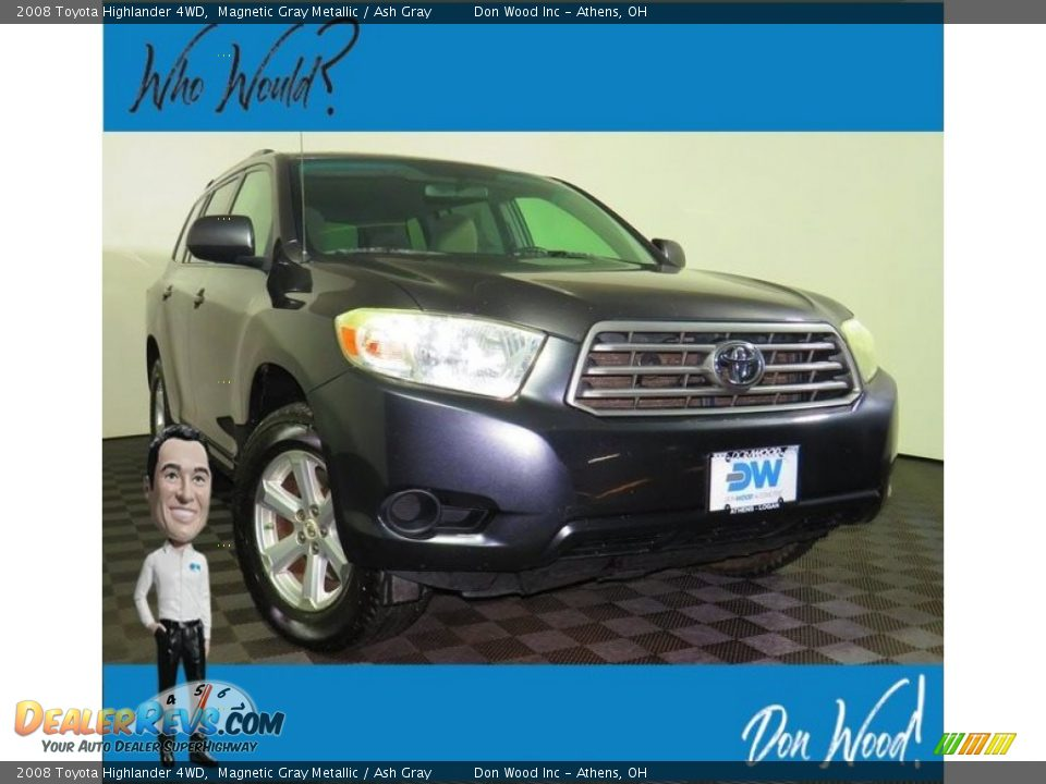 2008 Toyota Highlander 4WD Magnetic Gray Metallic / Ash Gray Photo #1