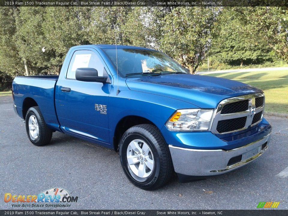 2019 Ram 1500 Tradesman Regular Cab Blue Streak Pearl / Black/Diesel Gray Photo #4