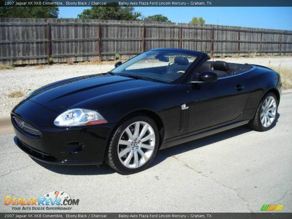 2007 jaguar xk xk8 convertible ebony black charcoal. Black Bedroom Furniture Sets. Home Design Ideas