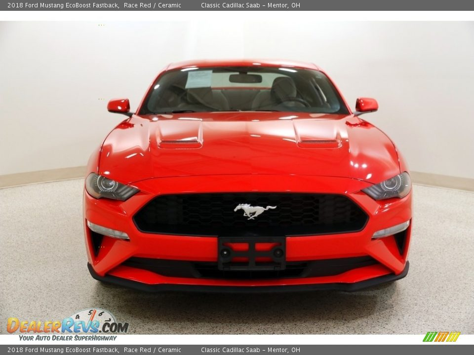 2018 Ford Mustang EcoBoost Fastback Race Red / Ceramic Photo #2