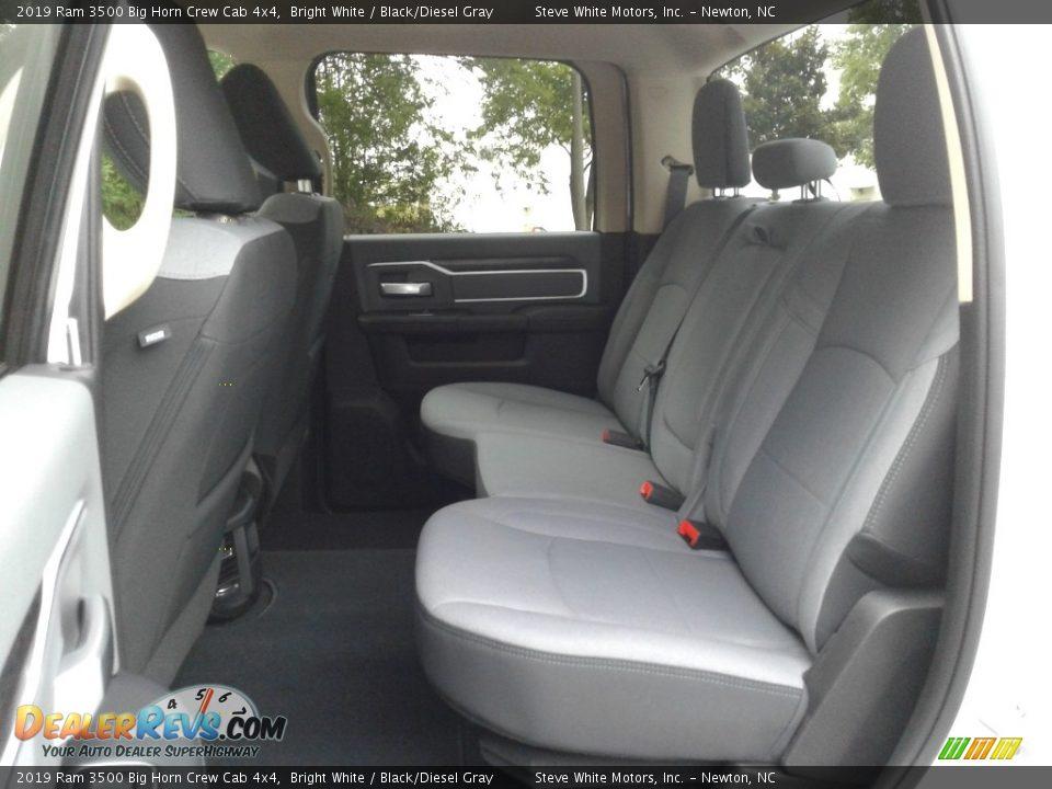 2019 Ram 3500 Big Horn Crew Cab 4x4 Bright White / Black/Diesel Gray Photo #11