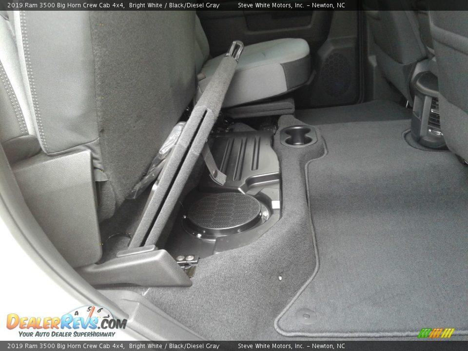 2019 Ram 3500 Big Horn Crew Cab 4x4 Bright White / Black/Diesel Gray Photo #14