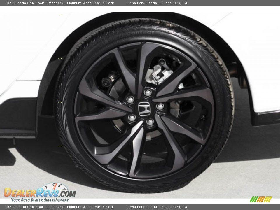 2020 Honda Civic Sport Hatchback Platinum White Pearl / Black Photo #14