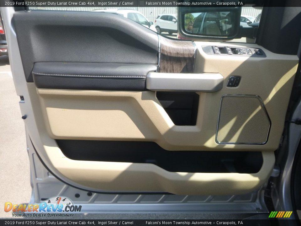2019 Ford F250 Super Duty Lariat Crew Cab 4x4 Ingot Silver / Camel Photo #11