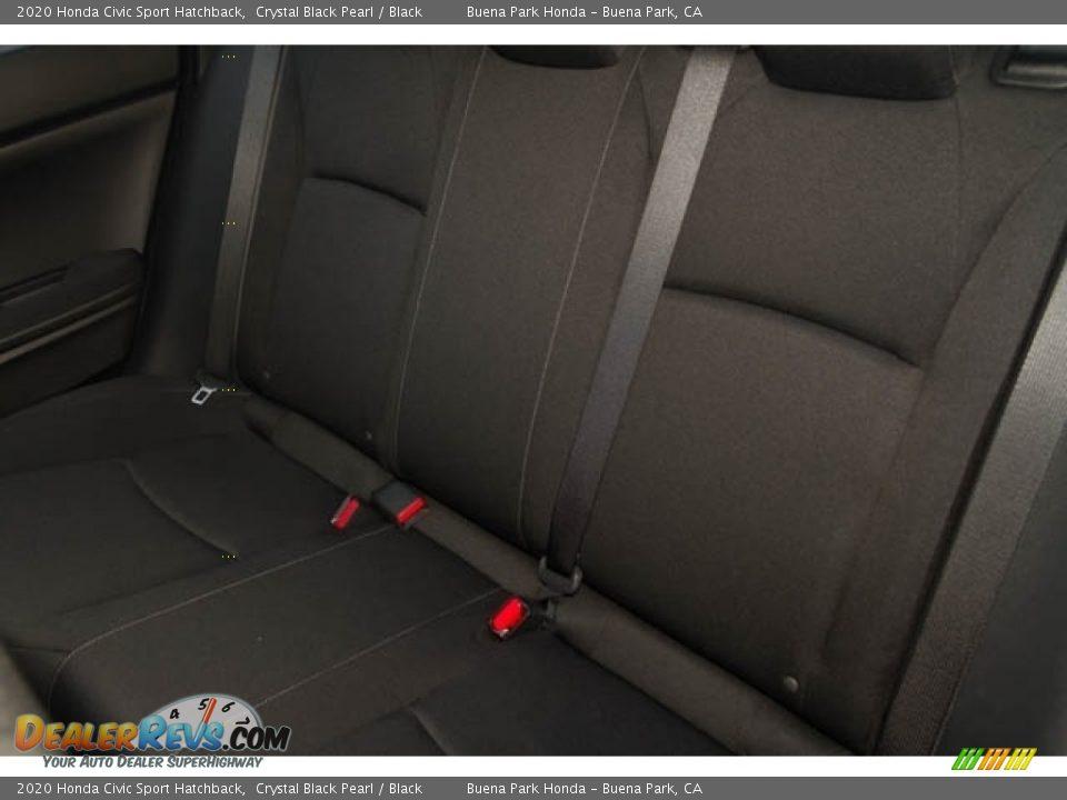 2020 Honda Civic Sport Hatchback Crystal Black Pearl / Black Photo #15