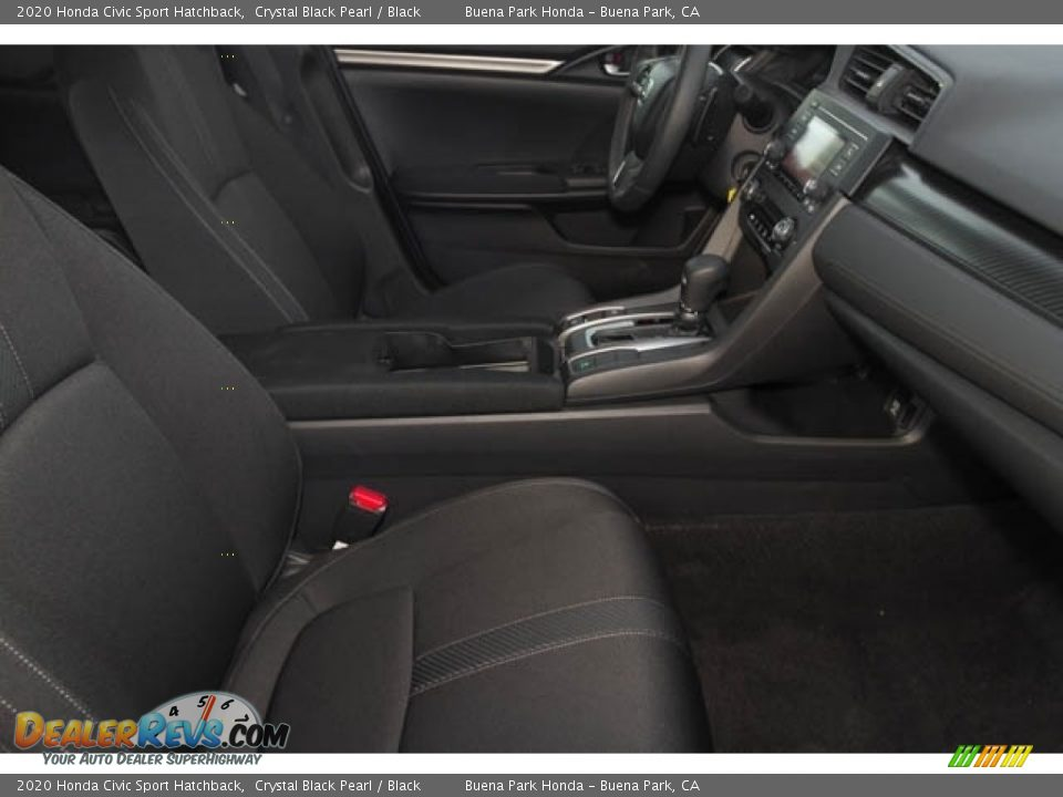 2020 Honda Civic Sport Hatchback Crystal Black Pearl / Black Photo #19