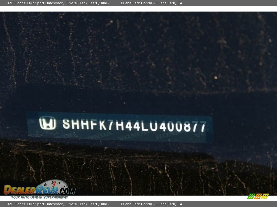 2020 Honda Civic Sport Hatchback Crystal Black Pearl / Black Photo #28