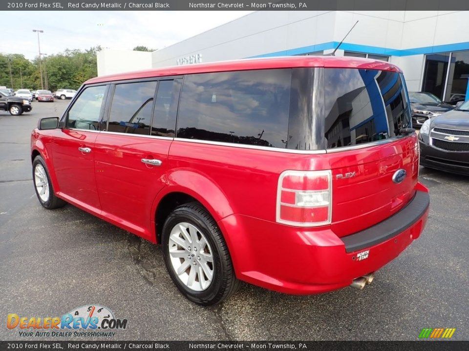 2010 Ford Flex SEL Red Candy Metallic / Charcoal Black Photo #4