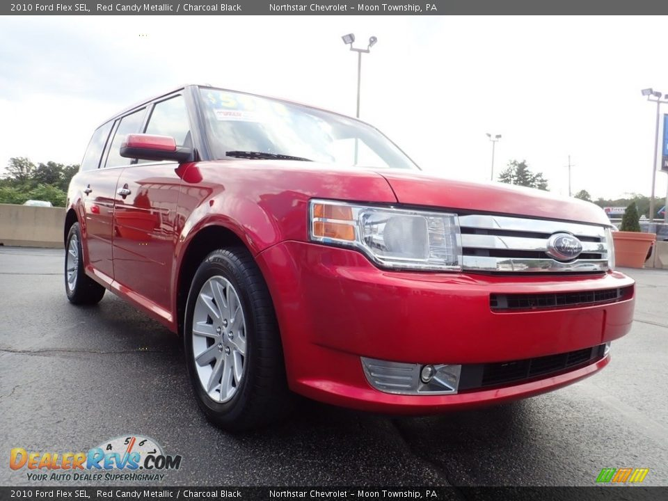 2010 Ford Flex SEL Red Candy Metallic / Charcoal Black Photo #12