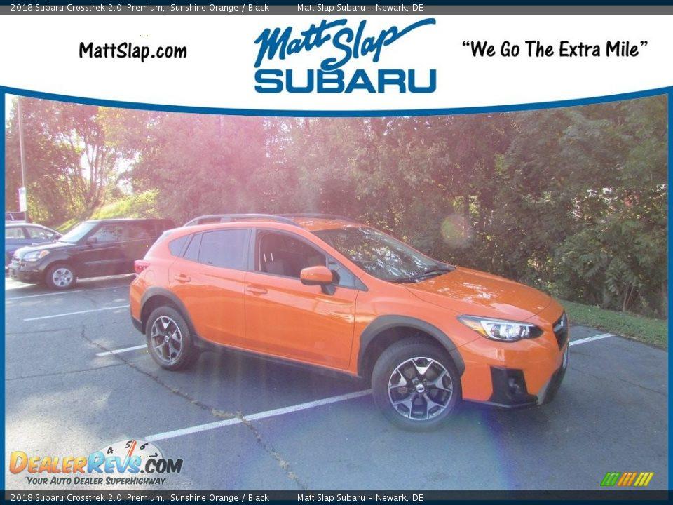 2018 Subaru Crosstrek 2.0i Premium Sunshine Orange / Black Photo #1